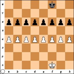 Complicated king and pawn endgame
